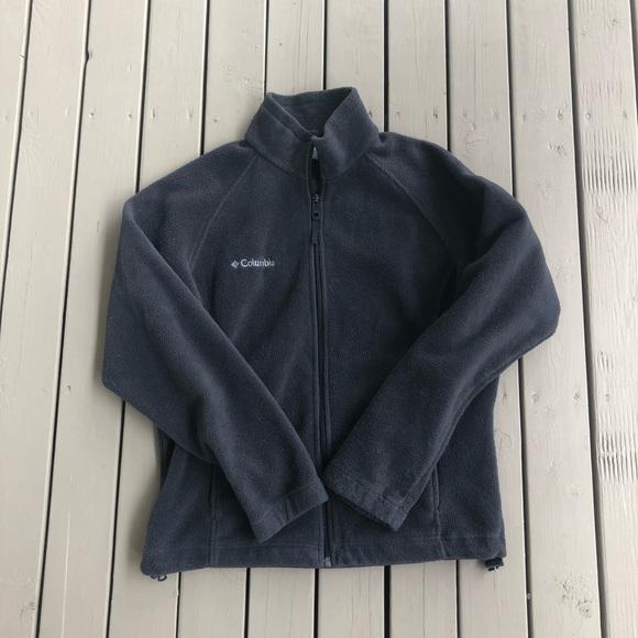 Grey Columbia Zip Up Fleece Sweater